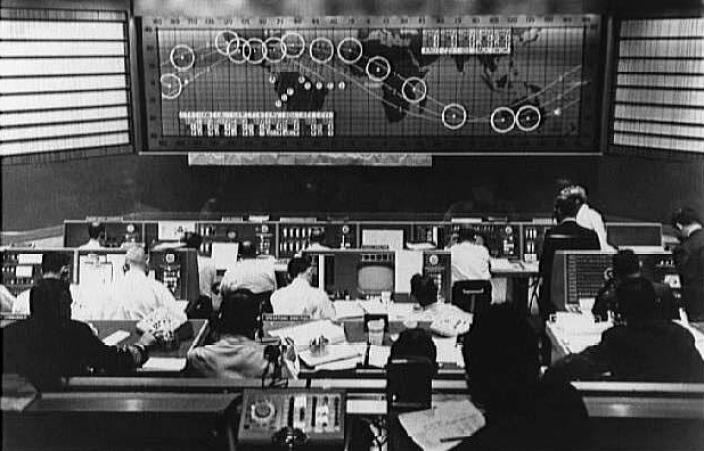 """NASA Goddard on Twitter: '1961: The Manned Space Flight Network Control Center Was Established at Goddard in July 1961 to Provide Communications Support for Astronauts on the Mercury and Apollo Missions.… Https://T.Co/QxK429nBfu.'"" n.d. Accessed June 17, 2019. https://twitter.com/nasagoddard/status/1046843793536897024."