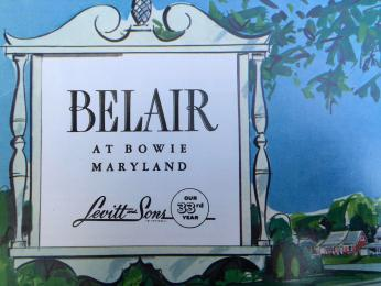 Sales guide for Belair at Bowie