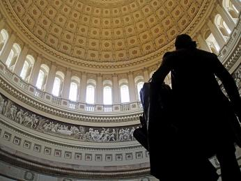 View of the U.S. Capitol rotunda