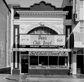 Ben's Chili Bowl, 1980 (Photo Source: Library of Congress)  Highsmith, Carol M, photographer. Ben's Chili Bowl, Washington, D.C. United States Washington D.C, None. [Between 1980 and 2006] Photograph. Retrieved from the Library of Congress, https://www.loc.gov/item/2011635251/. (Accessed December 04, 2017.)