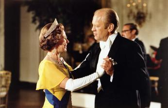 President Gerald Ford and Queen Elizabeth dance during the state dinner in honor of the Queen and Prince Philip.