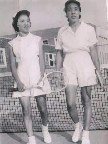 Roumania (left) and Margaret (right) Peters dominated the American Tennis Association in the 1940s. (Photo courtesy of Fannie Walker Weekes)
