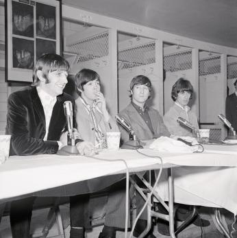 The Beatles hold a press conference at D.C. Stadium, August 15 1966. (Source:
