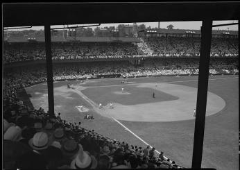 A view of Griffith Stadium from right field during a ballgame, 1933. (Photo Credit: Theodor Horydczak, Library of Congress)