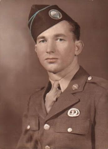 "Forrest ""Lefty"" Brewer, pictured here in military uniform, was a minor league baseball player and paratrooper involved in D-Day during World War II."