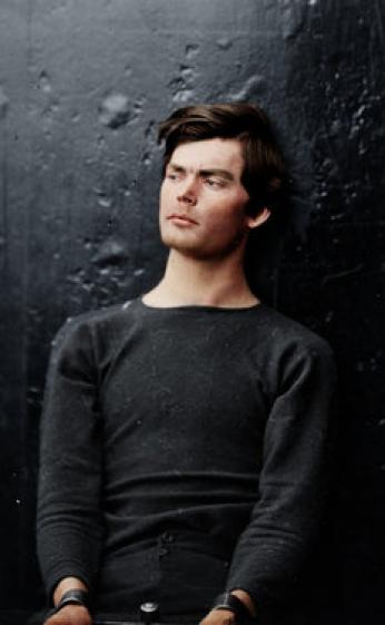 Colorized photo of Lewis Powell.