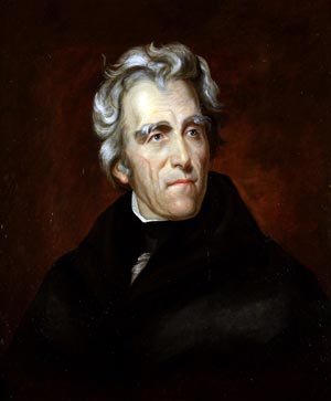 Portrait of Andrew Jackson in 1824 by Thomas Sully. (Source: Wikipedia)
