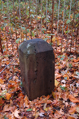 Original boundary stone at the intersection of Southern Ave. and Eastern Ave. along the D.C. - Prince Georges County line. (Source: Flickr user MDMarkUS66)