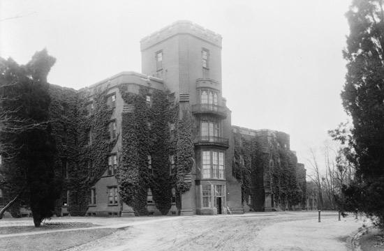 Center building at St. Elizabeths hospital.