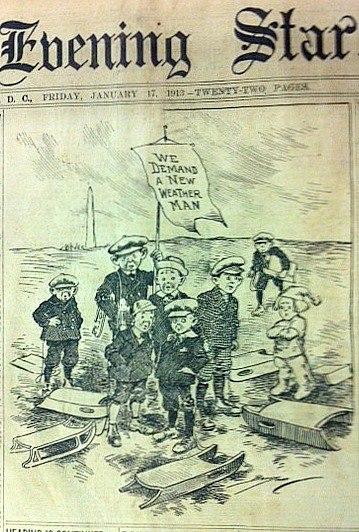 Cartoon from Washington Evening Star, January 17, 1917. (Source: Washingtoniana, D.C. Public Library)