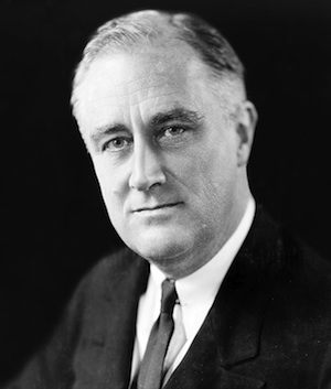 Franklin D. Roosevelt in 1933. (Source: Wikipedia)