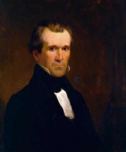 Portrait of James K. Polk by Minor K. Kellogg c. 1840. (Source: National Portrait Gallery)