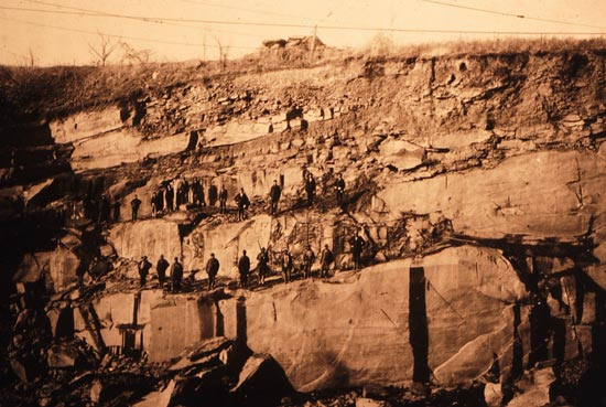Seneca Stone Quarry c.1890s (Photo source: Maryland-National Capital Park & Planning Commission)