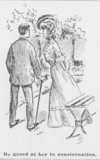 "Bachelor Girls cartoon. (Image source: Washington Herald ""Bachelor Girl Chat"" column, October 27, 1907.)"