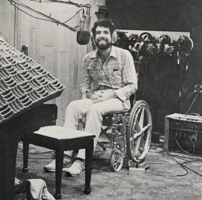 Kit Kamien at the recording studio (Source: Kit Kamien and the Backroom Players)