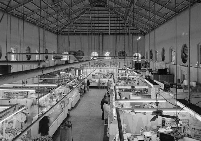 Eastern Market interior looking south (Source: Library of Congress)