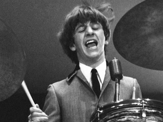 """Ringo Starr sings """"I Wanna Be Your Man"""" at Washington Coliseum, Feb. 11, 1964 (Photo credit: Mike Mitchell)"""