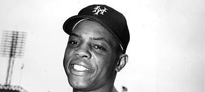 New York Giants outfielder Willie Mays poses at the Polo Grounds in New York City on June 9, 1951. (AP Photo)