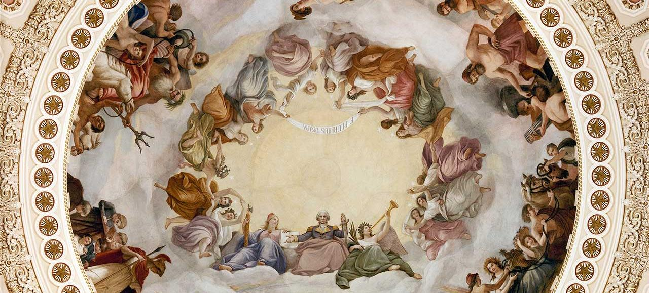 Brumidi's Apotheosis of Washington. (Photo source: Architect of the Capitol)