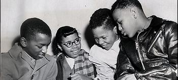 On February 2, 1959 (l-r) Michael Jones, Gloria Thompson, Ronald Deskins and Lance Newman became the first black students to break the color line in Virginia's public schools. (Source: Washington Post website)