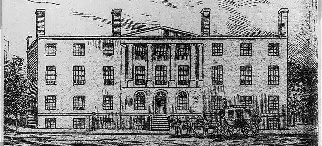Sketch of Blodgett's Hotel (Source: Library of Congress)