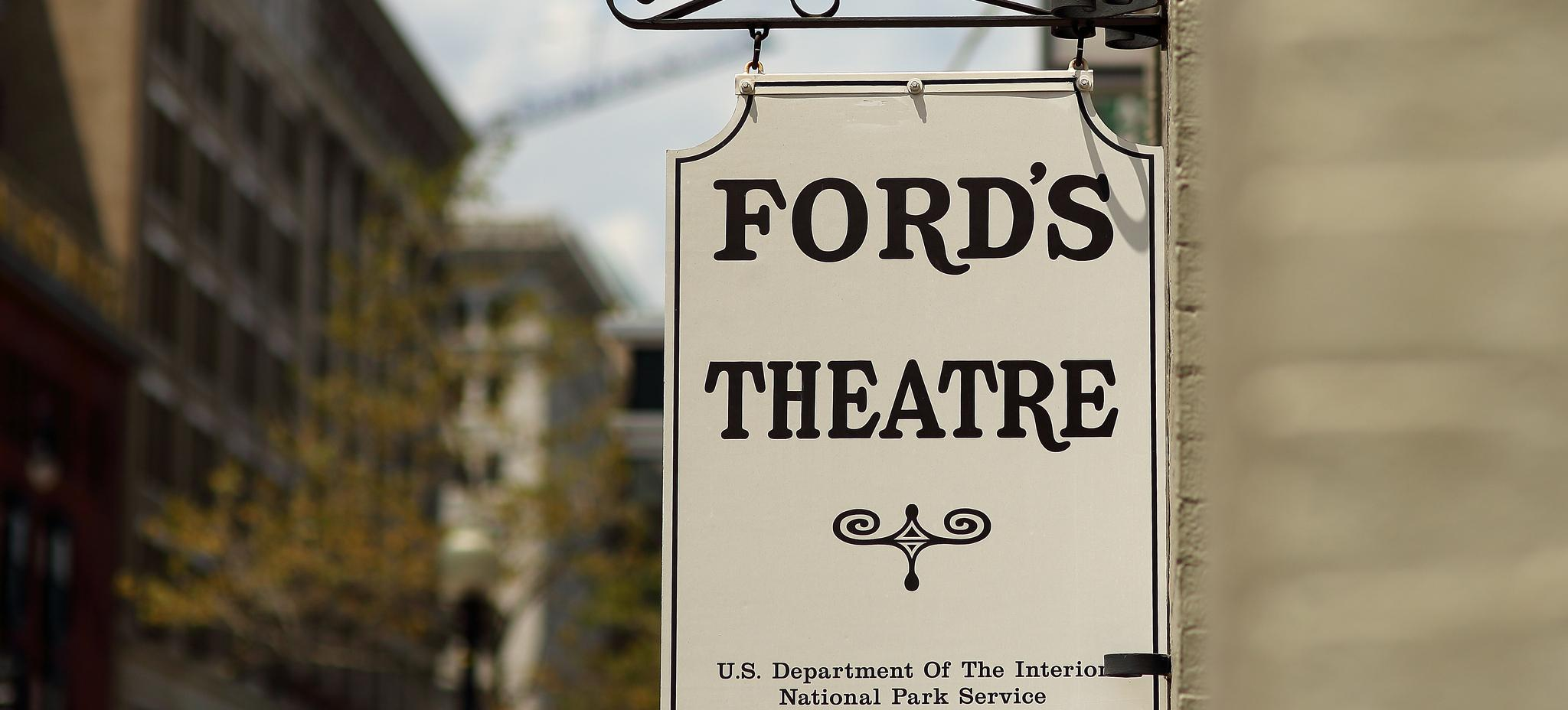 Ford's Theatre sign. Photo credit: Flick user @mr_t_in_dc Licensed via Creative Commons Attribution-NonCommercial-NoDerivs 2.0 Generic)