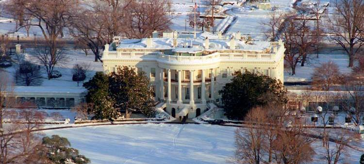 Washington remained buried in snow two days after the Super Bowl snowstorm. Source: National Archives and Records Administration (The Ronald Reagan Presidential Library)