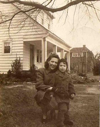 Fahey as a child, outside his Takoma Park home.