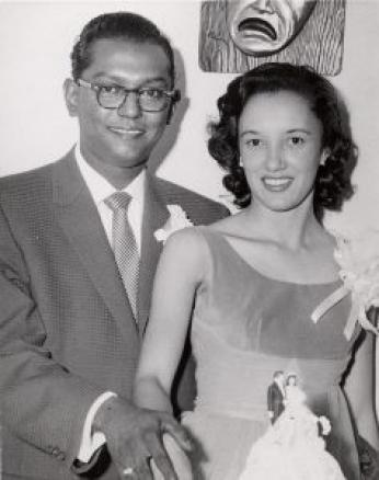 Ben and Virginia Ali on their wedding day, 1958 (Photo Source: Ben's Chili Bowl Website)  http://benschilibowl.com/history/