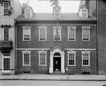 The exterior of Gadsby's Tavern (Source: Library of Congress Prints and Photographs Division, Washington, D.C.)