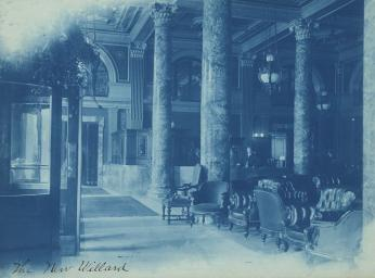Willard Hotel lobby in 1901 (Photo source: Library of Congress)