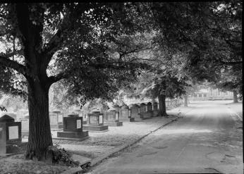 View of the Congressional Cemetery in the 1930s