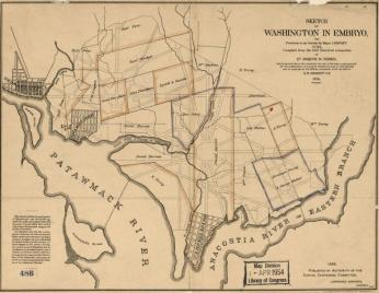 Map of early landowners in Washington DC