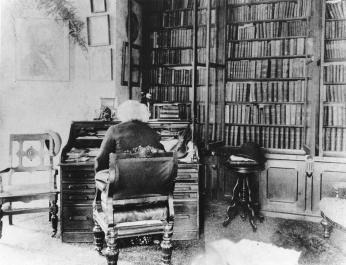 Frederick Douglass in his library at Cedar Hill in Anacostia.