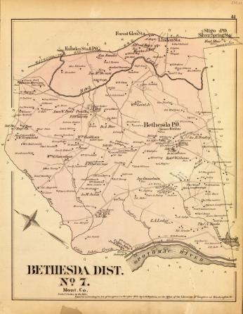 Map of Bethesda 1879