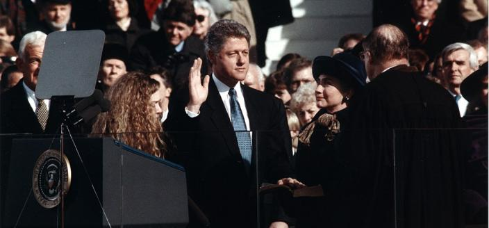 Bill Clinton Inauguration 1993 (Source: Wikipedia)