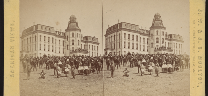 Howard University near Miner Hall in 1867