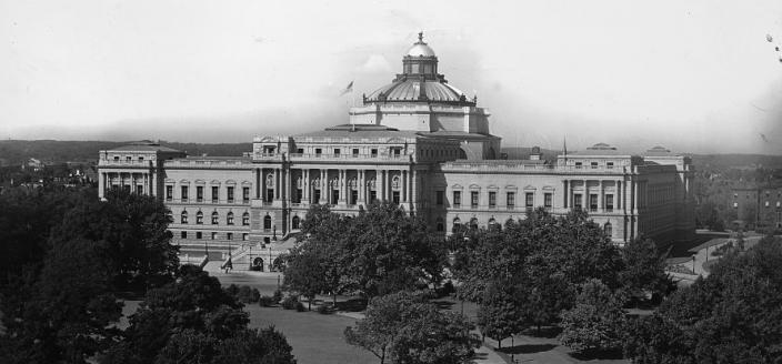"""Washington D.C., Library of Congress 1897-1910."" (Photo Source: Library of Congress) Detroit Publishing Co., Copyright Claimant, and Publisher Detroit Publishing Co. Washington, D.C., Library of Congress. District of Columbia United States, Washington D.C, None. [Between 1897 and 1910] Photograph. https://www.loc.gov/item/"