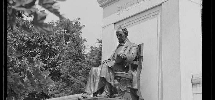 Washington, D.C. Buchanan statue in Meridian Hill Park