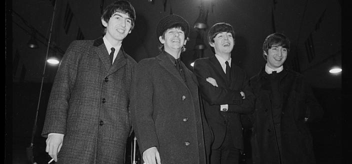 The Beatles at press conference