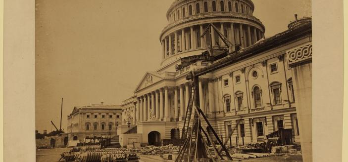 The U.S. Capitol, seen in 1863