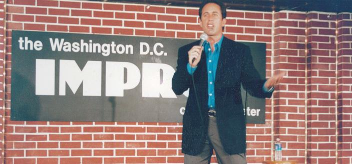 Jerry Seinfeld at the DC Improv. (Credit: DC Improv Archives)