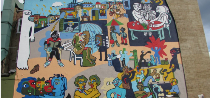"""Un Pueblo Sin Murales Es Un Pueblo Desmuralizado"" in 2014, after being restored the second time. (Source: Hola Cultura)"