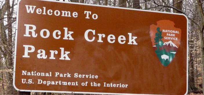 Rock Creek Park sign