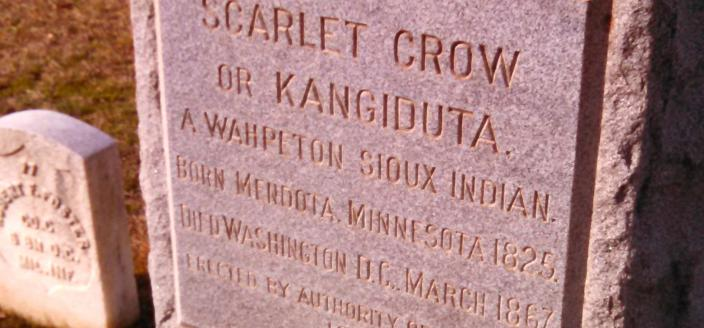 Scarlet Crow's gravestone at Congressional Cemetery