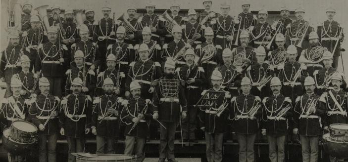 Sousa and the Marine Band in 1891, the year before Sousa left (Photo Source: Library of Congress)