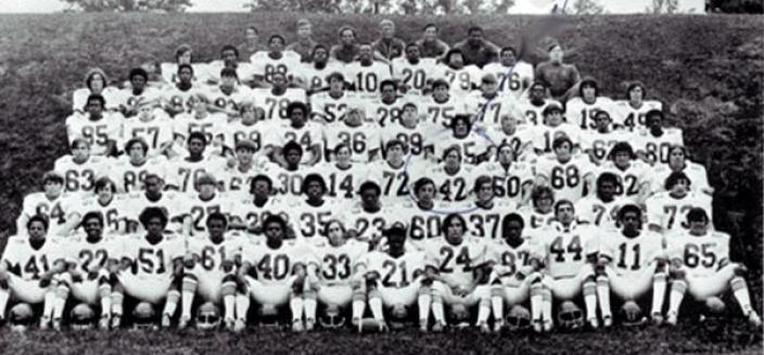 1971 T.C. Williams High School football team. (Source: Chasing The Frog website)