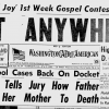 Washington Afro American headline from June 9, 1953.