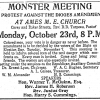 Ad from the Baltimore Afro American announcing a rally against the Digges Amendment