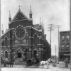 Photo of St. Augustine Catholic Church circa 1899.
